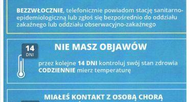 Zalecenia dla pacjentów, którzy podróżowali lub przebywali w rejonach występowania KORONAWIRUSA